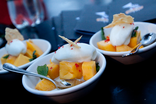 Mango Sorbet Dessert with Chilli
