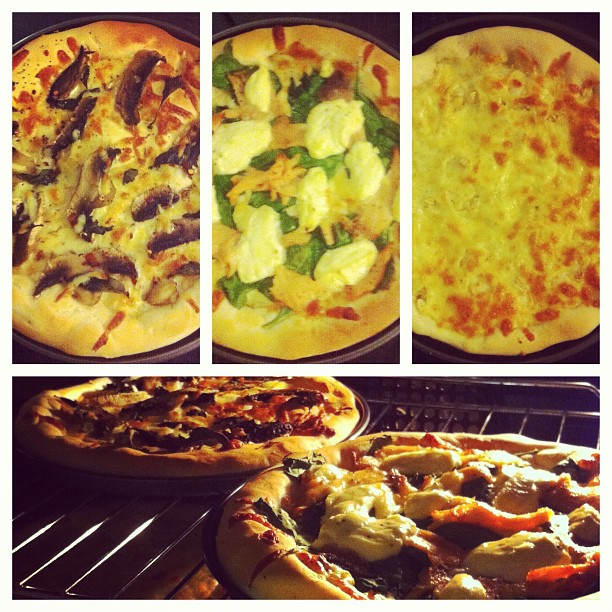 Successful homemade pizzas!!! Next time We're going to make dessert pizzas!!!