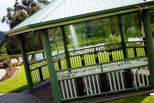 Gazebo with Water Fountain in the background